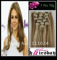 "15"" CLIP IN REMY HUMAN HAIR STRAIGHT MIX bonde CLIP IN EXTENSIONS WHOLESALE AND RETAIL FACTORY PRICE"
