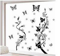 Butterfly Flower Tree Art Mural Wall Vinyl Sticker Decal Home Decor