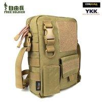 Free soldier  Outdoor Bag  Men Outdoor tactical messenger  casual  tactical Camouflage bag  Color:Muddy/Black/ACU Digital Camo
