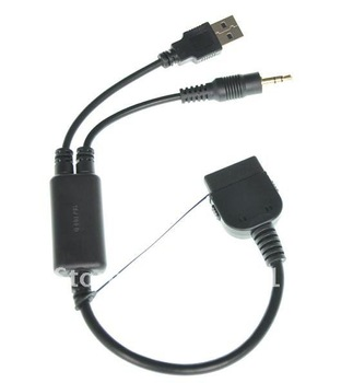 NEW 10pcs/lot neXplug iPod Adapter Charge and Audio Cable with USB and 3.5mm for Select BMW and Mini Cooper Car Models