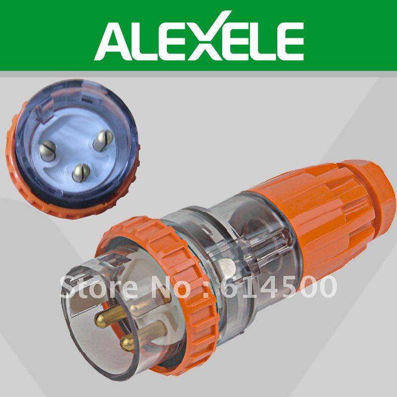 Free Shipping 56P332 250/500V Three Phase IP66 3Pin 32A Power Plug(China (Mainland))