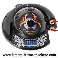 LCD Tattoo Power Supply Blue Screen New Arrival UFO Design Run 2 Machines Tattoo Equipment