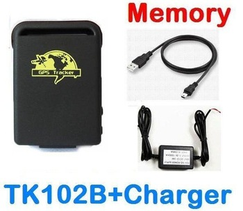 Car Personal Pets GPS Tracker TK102 b with Memory  and Hard-wired Car Charger