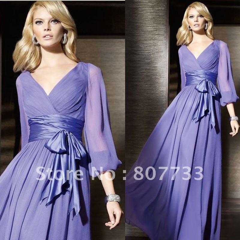 Длинные рукава вечерние платья платья