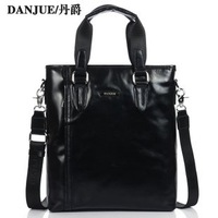 Authentic DanJue top layer leather men&#39;s handbag men&#39;s genuine leather bag bags