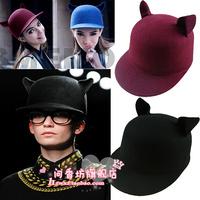 Fashion 2012 street style small little demon cat ears pure woolen hat