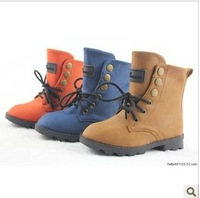 3 Colors ! 2012 New Arrival Quality PU Baby Boots Winter Warm Kids Martin Boots Flat Children's Boots