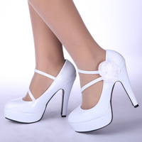 Japanned leather , bling , luxury wedding shoes white high-heeled shoes , the bride wedding dress/pumps/wedding pumps