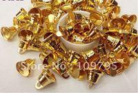 11X12MM 100pcs/Lot Gold Jingle Bell Christmas Decoration Windchimes Free Shipping