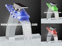 single handle LED bathroom washbasin mixer tap