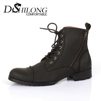 Free shipping Fashionable casual trend denim boots martin boots high-top shoes fashion mens boots high-leg boots