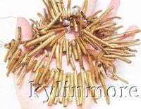8SE04050 4x35MM AAA Golden Coral Tube Bead 15''