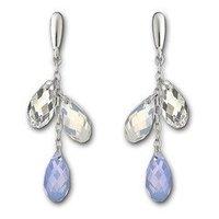 Austrian Crystal Lagoon Air Blue Pierced Earrings 1035270