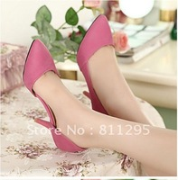 HOT Selling 2012 women's pumps shoes fashion neon candy color pointed toe high-heeled shoes  Free shipping