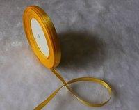 "wholesale-free shipping 1/4"" 6mm 25yds/pcs   Wedding Party Craft  Satin Ribbon  Gold"