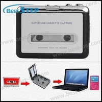 Free Shipping USB cassette capture Player,Tape to PC, Super Portable USB Cassette-to-MP3 Converter Capture with Retail Package