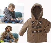 DZ-527,free shipping baby thick cotton outerwear boys fashion khaki/gray coat winter children warm jacket wholesale 5pcs/lot