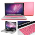 "Free Shipping Pink Frosted Hard Case Screen Protector Keyboard Cover for A1278 Macbook Pro 13"" inch"