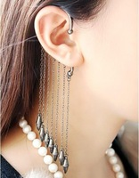 Min.order is $15 (mix order) Fashion rivet tassels Without hole Drop Earrings Stud Earrings AQ0042