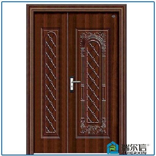 Exterior Security Steel Double Layer Door Bathroom Wooden