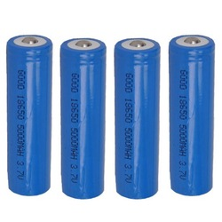 4 pcs 18650 li-ion rechargeable battery 5000MAH FOR LED Flashlight LED Torch 3.7(China (Mainland))