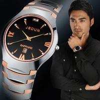 Luxury JSDUN Full Tungsten Steel Strap Date Analog Military Watch Top Grade Fashion CZ Diamond Men's Quartz Wrist Watch 6003G