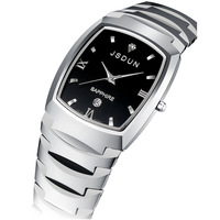 Watch fashion tungsten steel fashion wristwatch male watch men's waterproof quartz watch