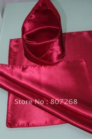 Free shipping Top quality cheapest red satin table dinner Napkin(China (Mainland))