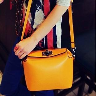 Women's Handbag Bags Candy Color Small Bag Orange Messenger Bag YWJR1205