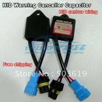 Free shipping One pair HID warning canceller capacitor canbus wiring harness HID lamp ballast decode device
