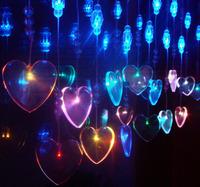 Hight Bright crystal decorative lighting  heart shape as curtains 6W 110V/220V free shipping