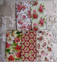 5 PCS flower floral pattern hard back Case cover skin for iPhone 5 5G 5S