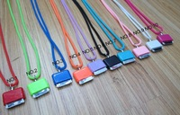 Wholesale 10Colors Soft Silicone Lanyard,Neck Straps Lanyard For iPhone 3 3G 4G 4S DHL EMS Free