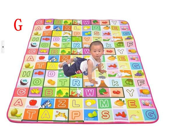 Freeshipping,New Play Mat Baby /Educational Crawl Pad ,Play+Learning+Safety Mats,Kids Climb Blanket,1.5x1.8m Game Carpet,ZWS016(China (Mainland))