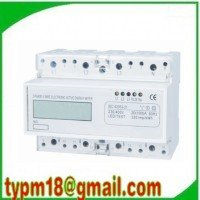 Professional Watt-hour khw Meter AC230V 0.5W 50HZ 6 digits LCD Display three Phase DIN Rail NEW