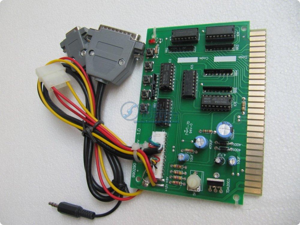 4 Pcs PC to jamma converter board/PC2Jamma/computer to arcade game machine/computer to cabinet/amusement machine(China (Mainland))