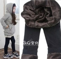 autumn and winter baby bamboo pants fiber thickening child legging female child ankle length trousers warm pants infants