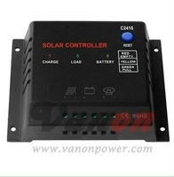 Free shipping!HIGH QUALITY PWM 10A Solar Charge Controller,12V/24V dc automatic selective with LCD display CE ROHS certificated