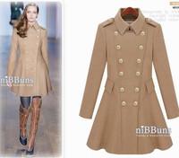 2012 winter slim wool coat autumn and winter women woolen outerwear wool coat medium-long