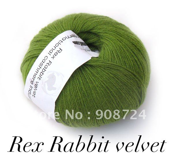 300g 6skeins Rex Rabbit velvet YARN -FREE SHIPPING Wholesale/Retail(China (Mainland))