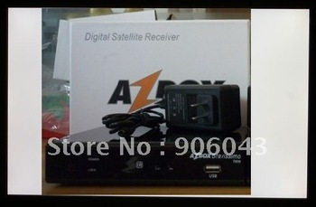 Free shipping  AZBOX Bravissimo Two Tuner Nagra3 HD Satellite Receiver with SKS/IKS 2012 newest products