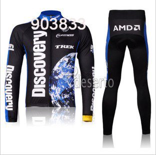 2012 New Discovery Team Cycling Jersey Long sleeves Jersey+Pants/Cycling Wear Bike Set Cycling Clothing(China (Mainland))