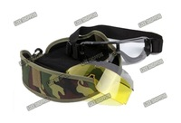 Free Shipping Airsoft Painball Tactical Goggles Protection Glasses 3 Lens