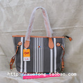 Sunbrella suyaki stripe shoulder bag female bags water dumpling bag canvas women's handbag