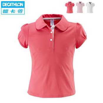 iZone tennis ball girl female child sports polo shirt sports t-shirt artengo polo 100 g SENT ON 18th  Feb