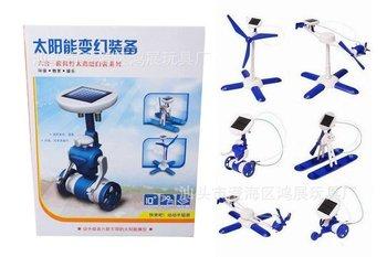 DIY 6 in 1 Educational Solar panels Kit Assemble toys Robotikits toy Christmas childen Gift opp bag