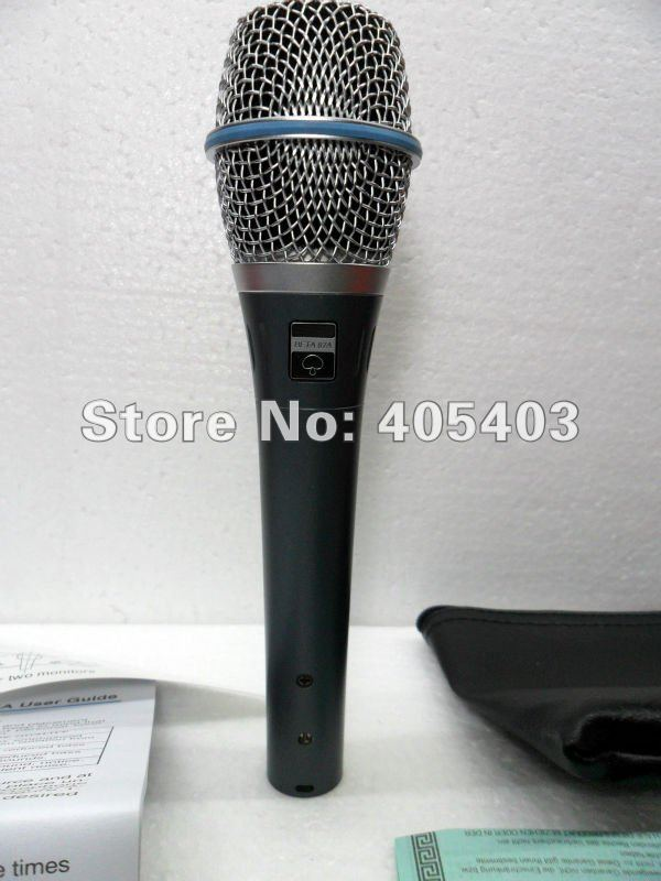 Free shipping 2pcs/lots TOP Quality New boxed 87A supercardioid hand-held electret condenser vocal microphone beta87(China (Mainland))