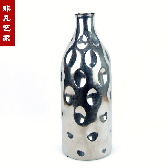 Online kopen wholesale zilveren vaas uit china zilveren vaas groothandel - Mode decoratie ...