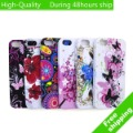 High Quality Flower Butterfly Colorful Priinting Soft Gel TPU Case for iPhone 5 5G Free Shipping UPS DHL EMS HKPAM CPAM DF-953