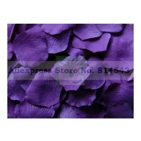 Dark Purple Rose Petals Table Decoration (set of 12 packs) Free Shipping 1200PCS
